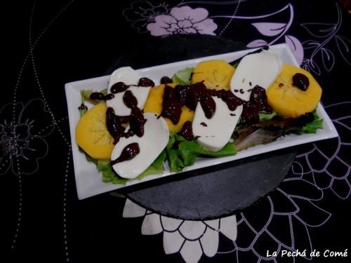 Ensalada verde con vinagreta de chocolate