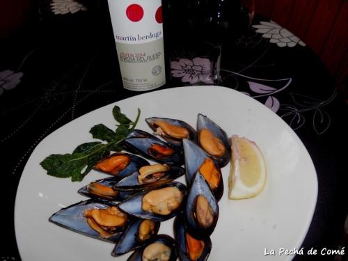 """Mejillones al vino tinto """"Martín Berdugo"""""""