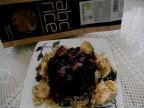 Pullao de arroz negro y pollo al azafrán
